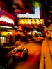 Hong Kong taxis at night