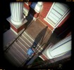 James Hutchins climbs the steps of the Logan County Courthouse in Paris, Arkansas on a Monday afternoon.