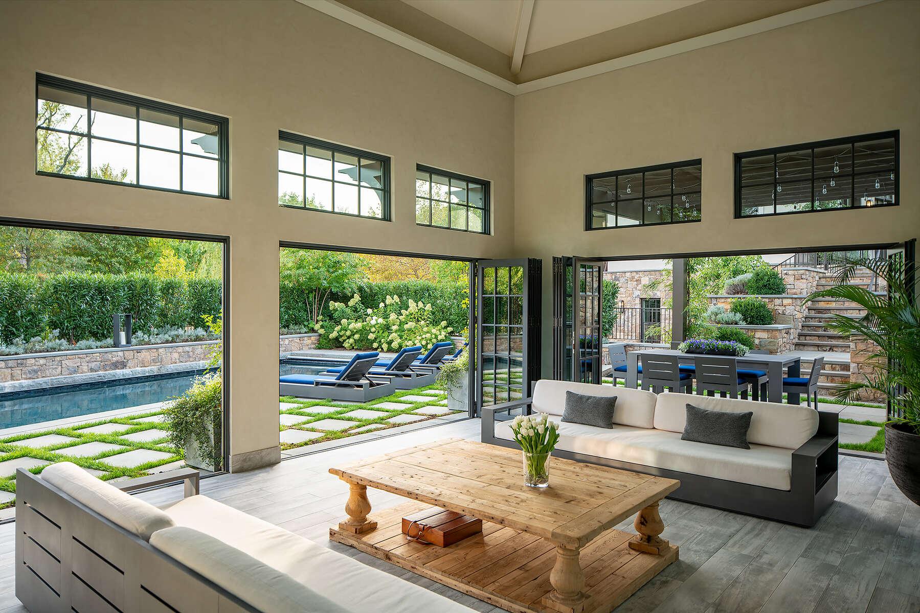 Ed Weber ArchitectsGlasser Residence,Pool & Guest HousesWashington, DC
