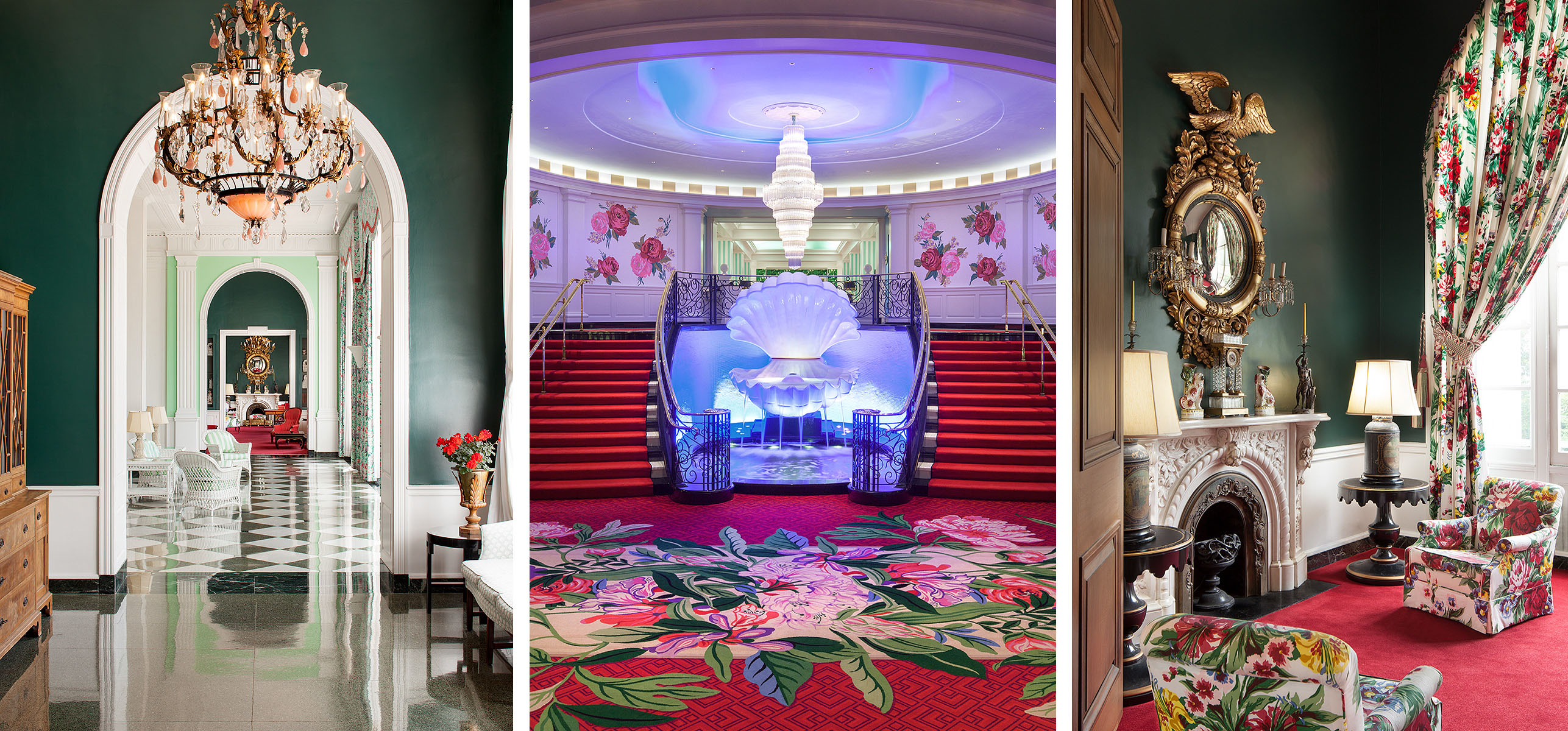 The GreenbrierWhite Sulphur Springs, WVIconic interior design by Dorothy Draper,revisioned by Carlton Varney