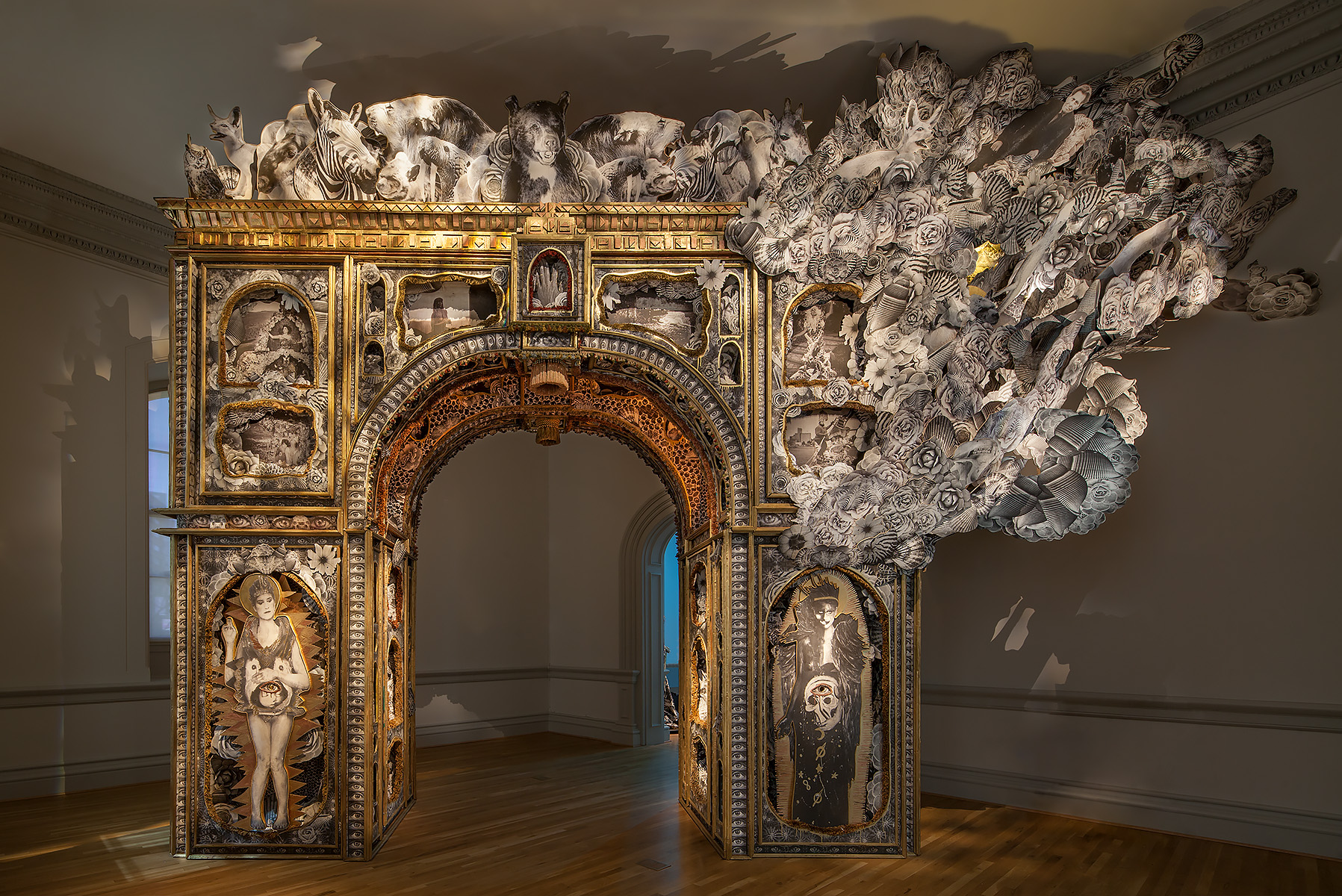The Paper Arch, 2018Michael Garlington and Natalia BertottiNo Spectators: The Art of Burning ManRENWICK GALLERYWashington, DC
