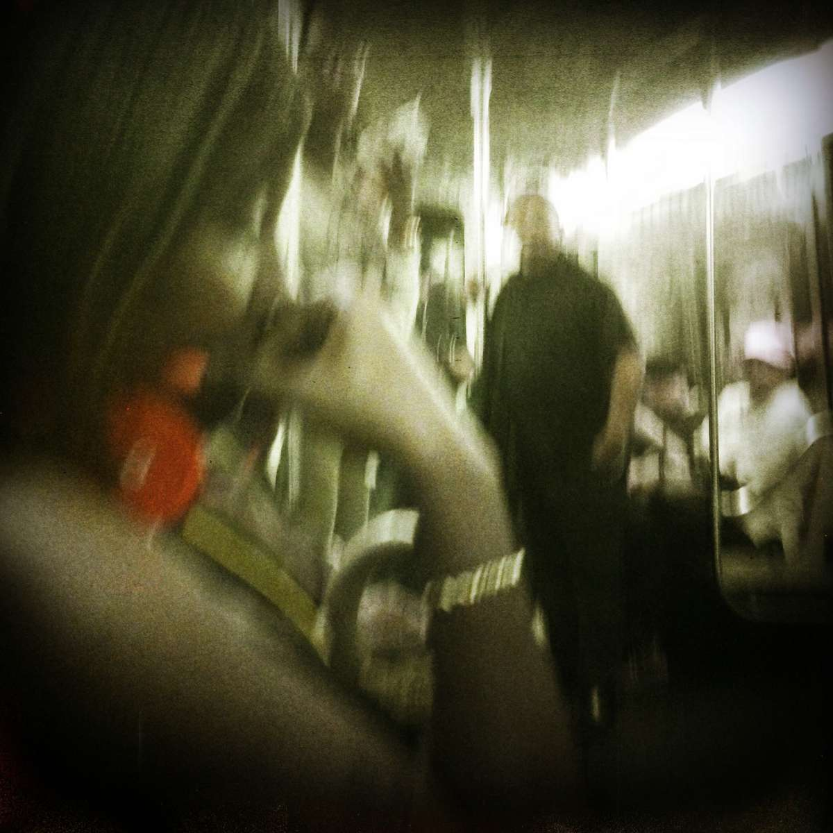 New York subway, as hot summer continues and as I still cope with jet lag.