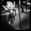Body builder Ryder, 45, at a Harlem park. #bodybuilding #bodybuilder #harlem #soha #iphonephotography #photodocumentary #summer #streetphoto #newyork