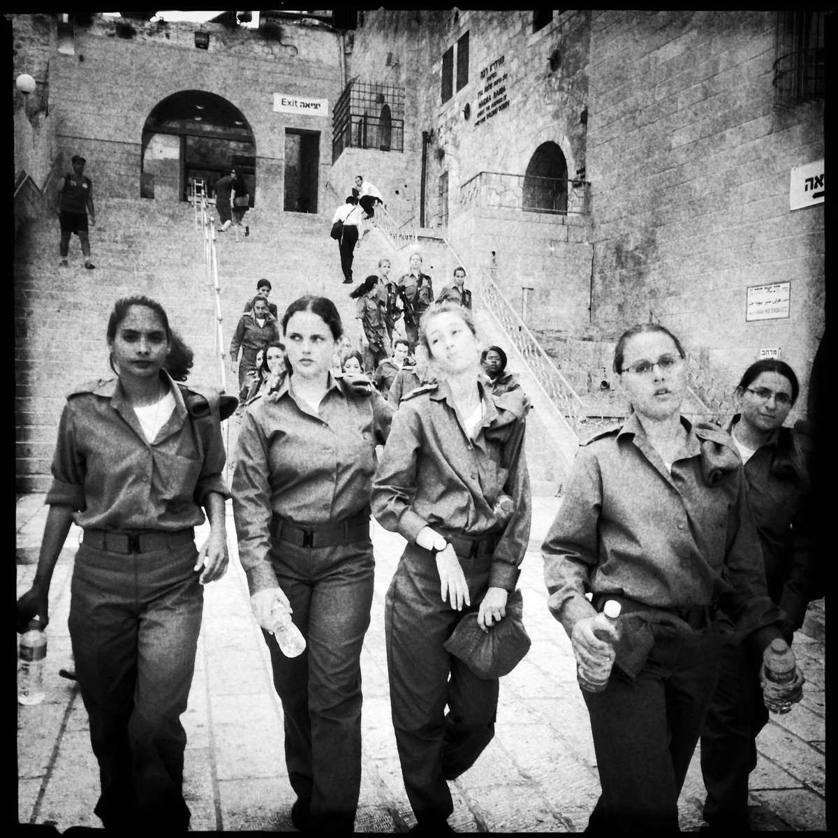 Israeli Female Soldiers at Western Wall
