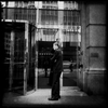 A musing security man near Wall Street, New York.