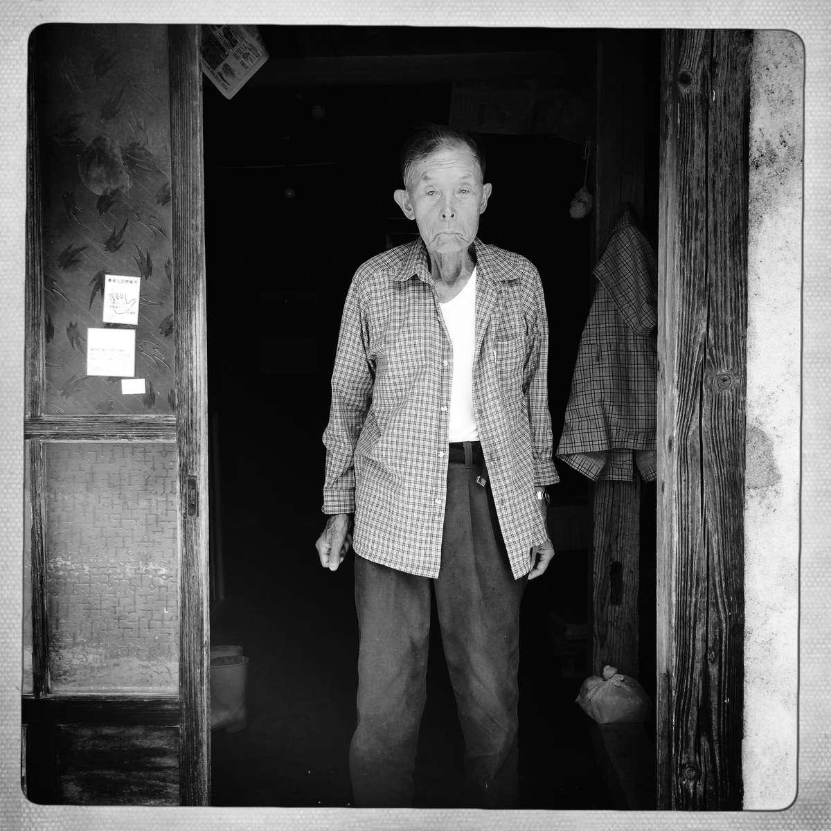 Old Farmer in Genpatsu Belt