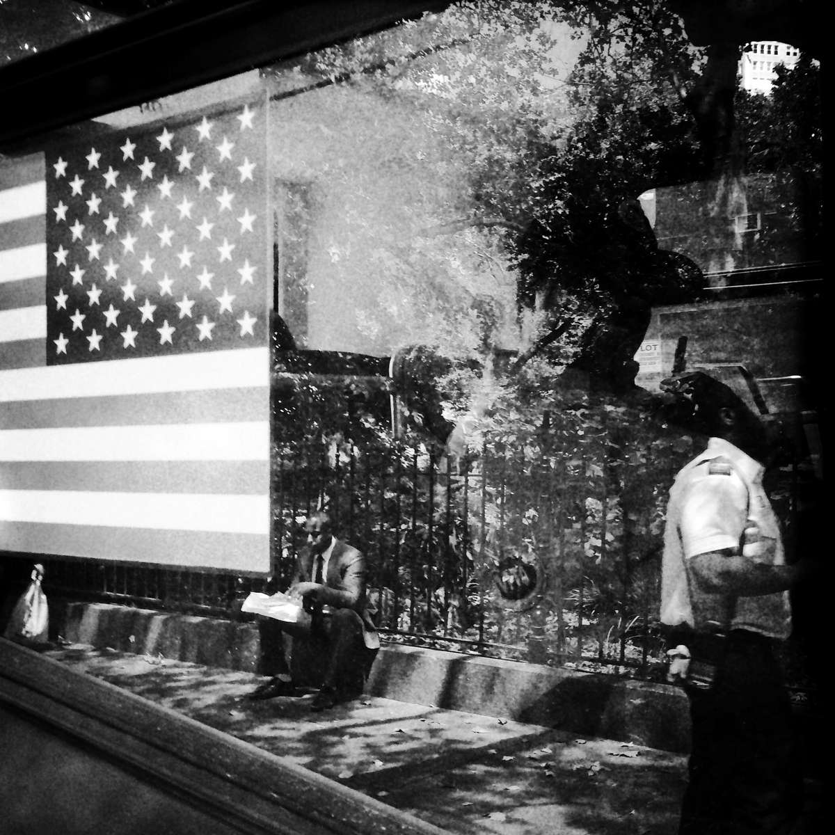 Reflection on New York Bus
