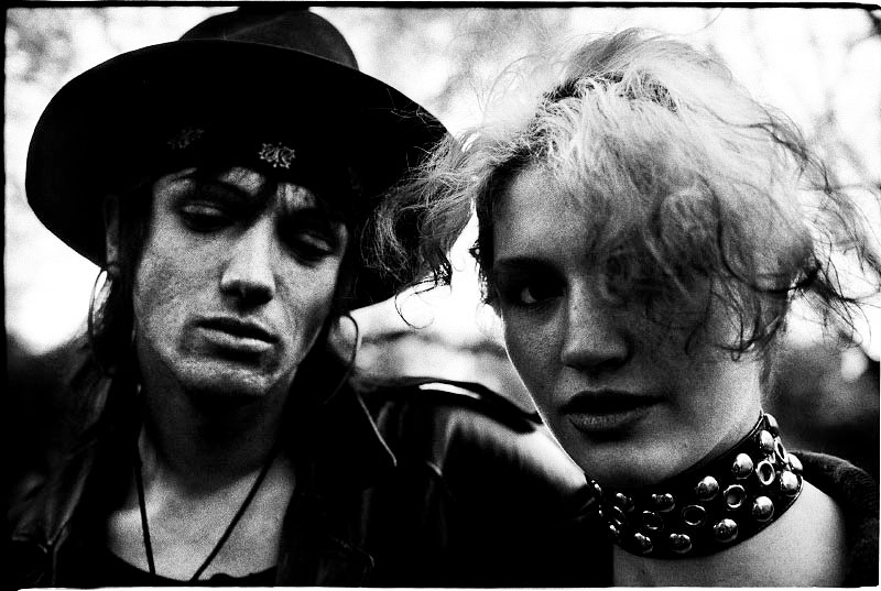 An anarchy conscious couple in Tompkins Square Park. May 1991.