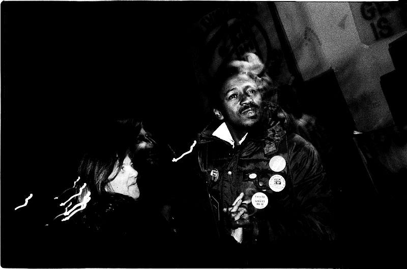 A homeless couple, Chris and Barbara, dance together at the band shell of the park, as they face a freezing night and they have to caution the NYPD raid for the forceful eviction. Dec 1989.