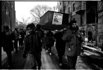 A scene of anti-gentrification protest in the memory of Terry Taylor who was a homeless activist and died due to AIDS. New York, Jan 05, 1994.