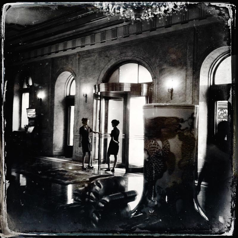 A scene at the lobby of Dalian Hotel, that used to be called as Yamato Hotel, an icon of Japanese occupation time of Manchuria, China's North East.