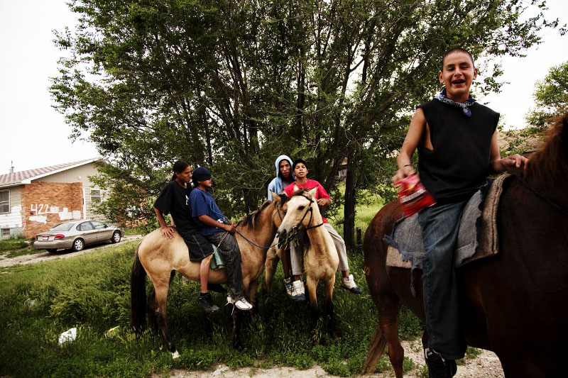 Wana-be teen gangsters of Lakota teens are hanging out with horses.