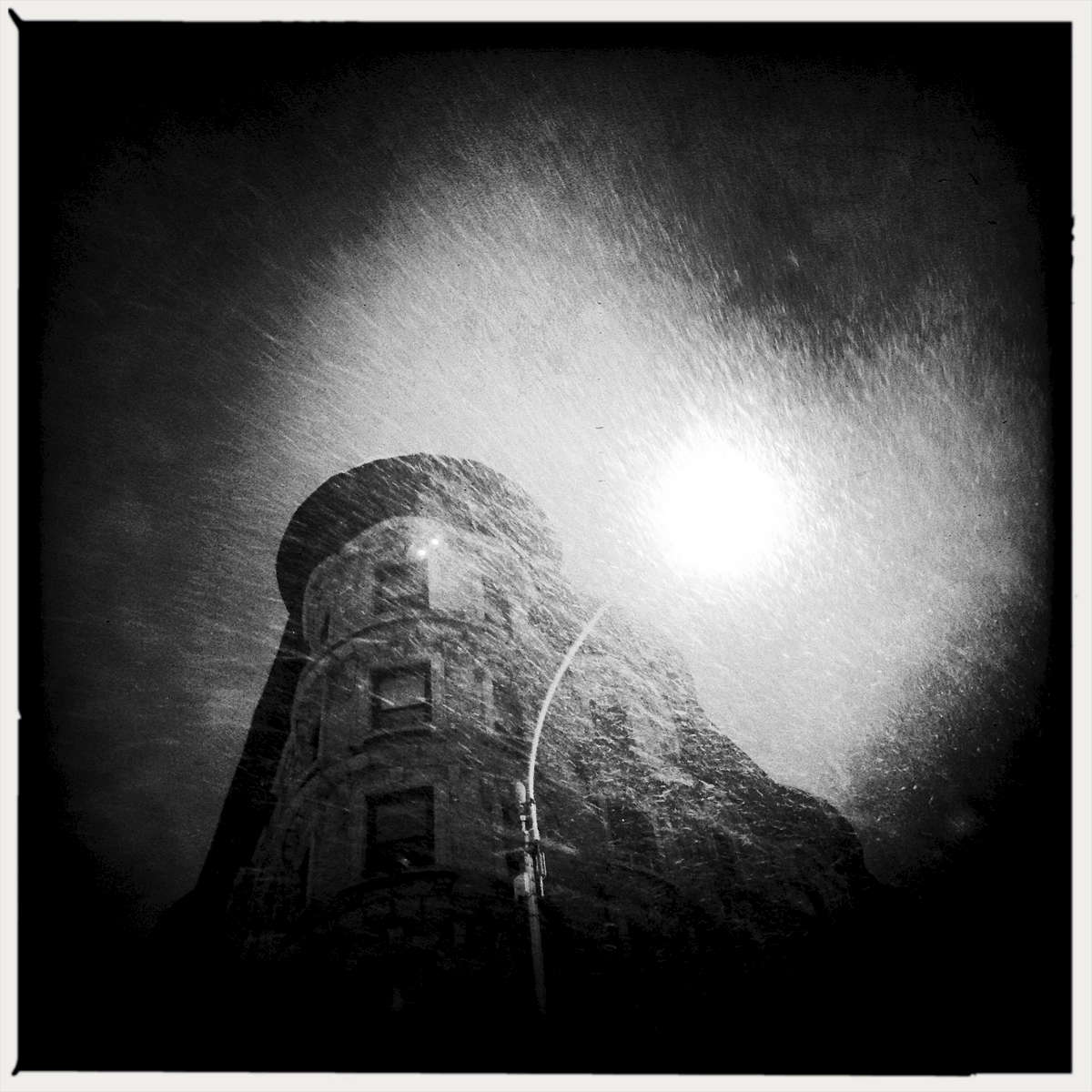 Blizzard in Harlem.