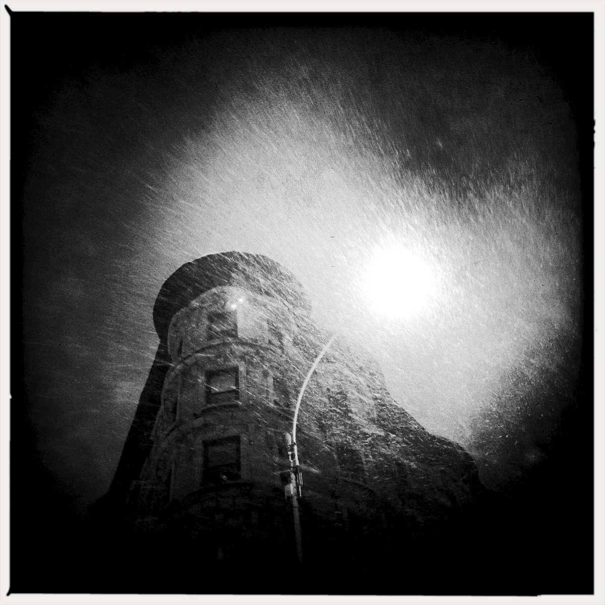 Blizzard in Harlem.