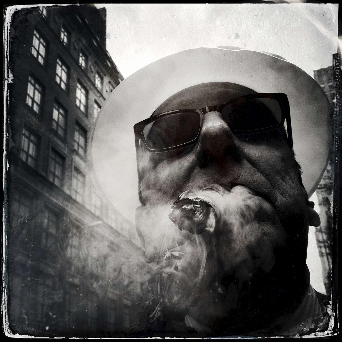 Cigar lover -- Easter Sunday, 5th Avenue.
