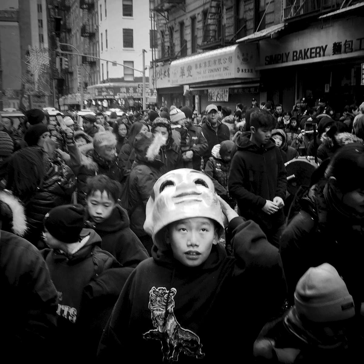 Boy with a mask during the Chinese New Year festival -- China Town, Feb. 2016.