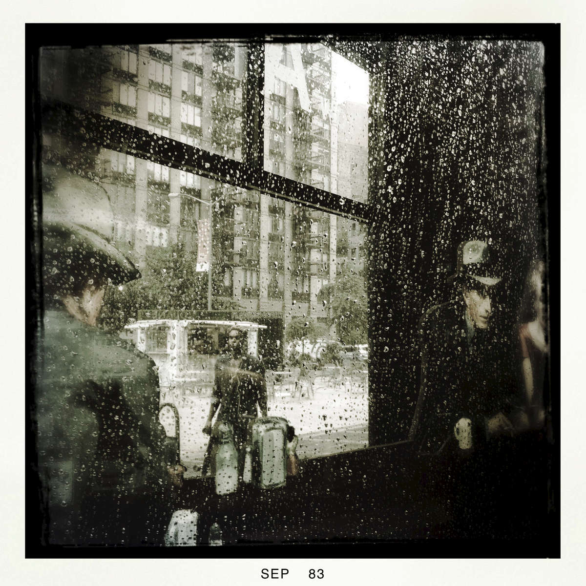 On a rainy day in Midtown New York, Sep. 2013.