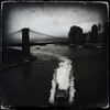 Brooklyn Bridge during a rainy storm, Aug. 2013.