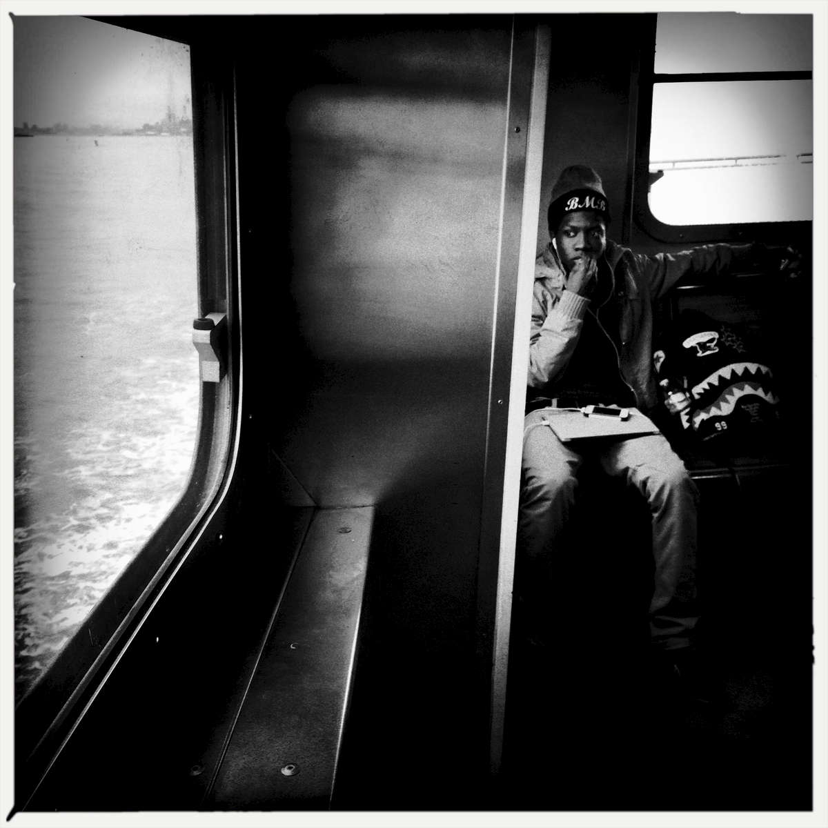 A winter commuter -- Staten Island Ferry, Feb. 2015.
