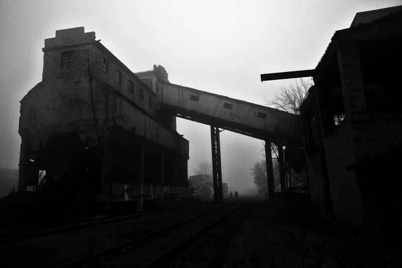 A scene of a Coalmine factory, called as Kuybyshev factory in Donetsk, which is planning to close next February. Many residents in industrial towns in the Eastern parts of Ukraine, like Donetsk, are facing to lose their jobs, due to the current economic crisis. Donetsk, Nov 25 2008.