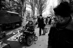 A street market scene near a Soviet-era project in Donetsk's working class area, as the economic crisis has started to hit Ukraine. Many residents in industrial towns in the Eastern parts of Ukraine, like Donetsk, are facing to lose their jobs, due to the crisis. Donetsk, Nov 27 2008.