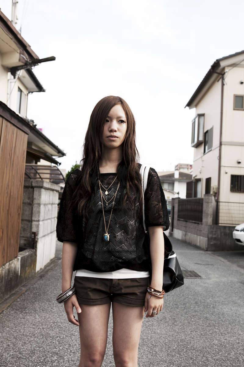 17 year old high school student Ayane. Aug/ 2011, Iwaki.