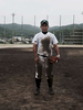 Tatsuki Nishiyama, 17 year old high school baseball player, as many uncertainties including even the playground itself, due to the nuclear disaster, continue. Aug/ 2011, Fukushima-city.