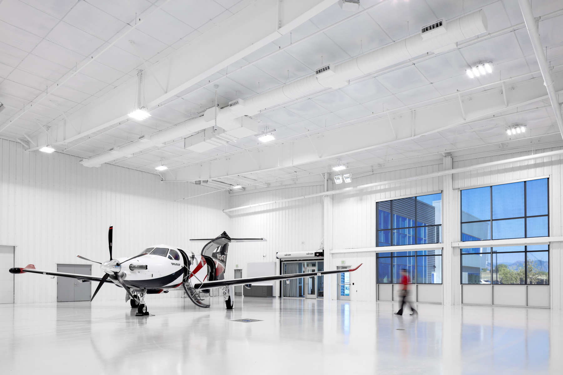 Aircraft Manufacturer Delivery Hangar