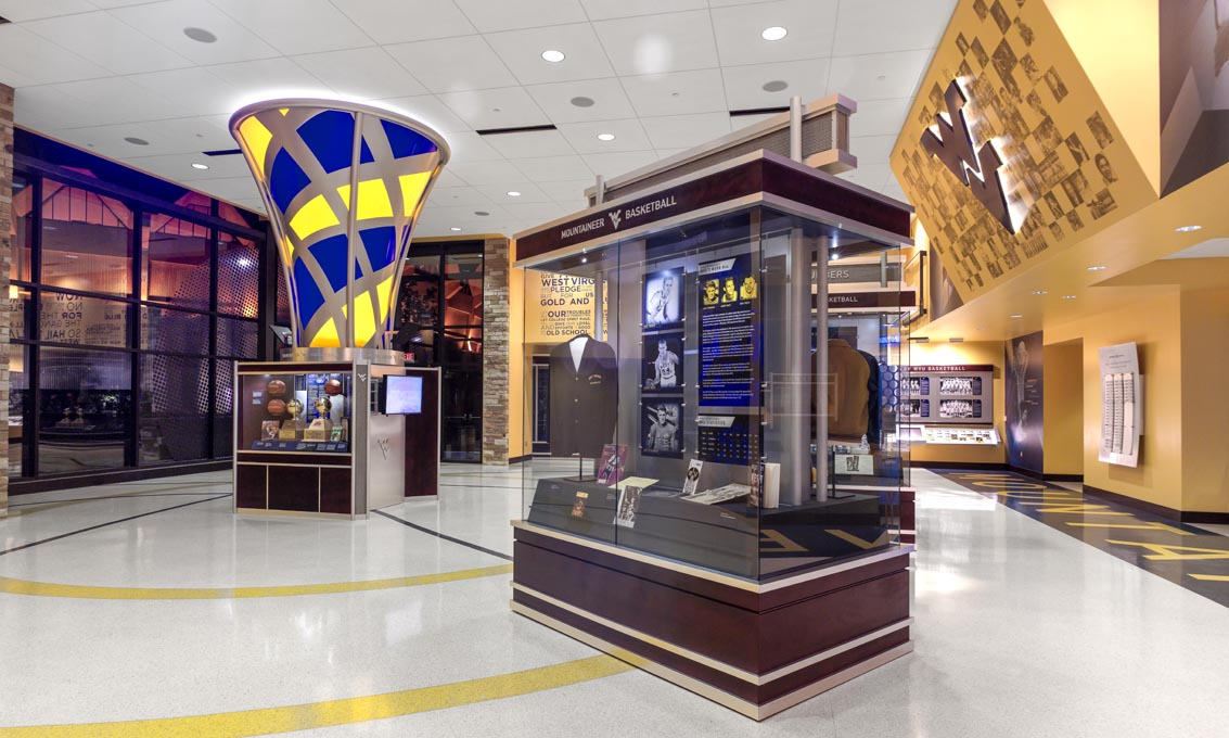 WVU Basketball Hall of Fame: Interiors: Architecture and ...