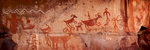 Panoramic Pictograph well preserved by an overhang