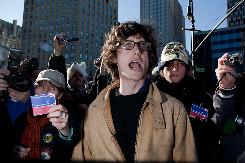 USA. New York. 2011. Occupy Wall Street.