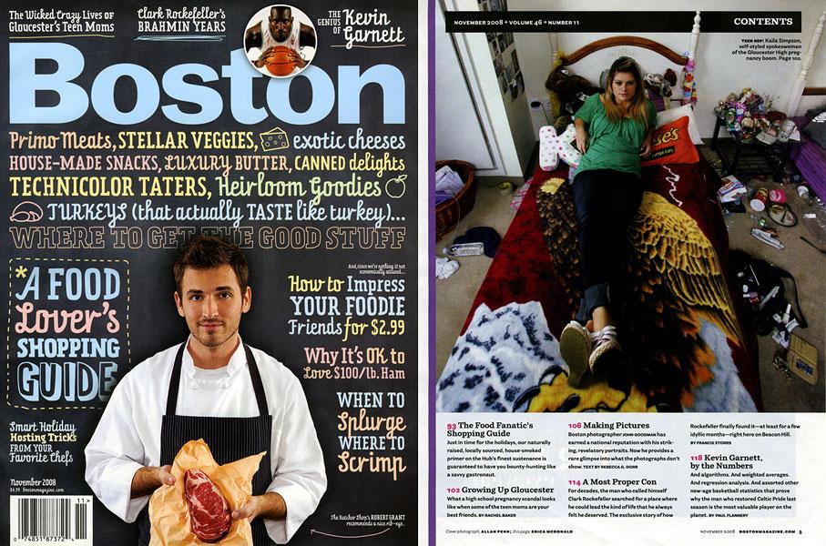 November 2008 issue of Boston Magazine.Kaila Simpson, teenage 'spokesperson' for the Gloucester High School girls involved in the pregnancy scandal.