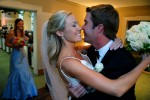 Winston Salem NC bride and groom following the wedding ceremony.  ©Christopher Record Photography