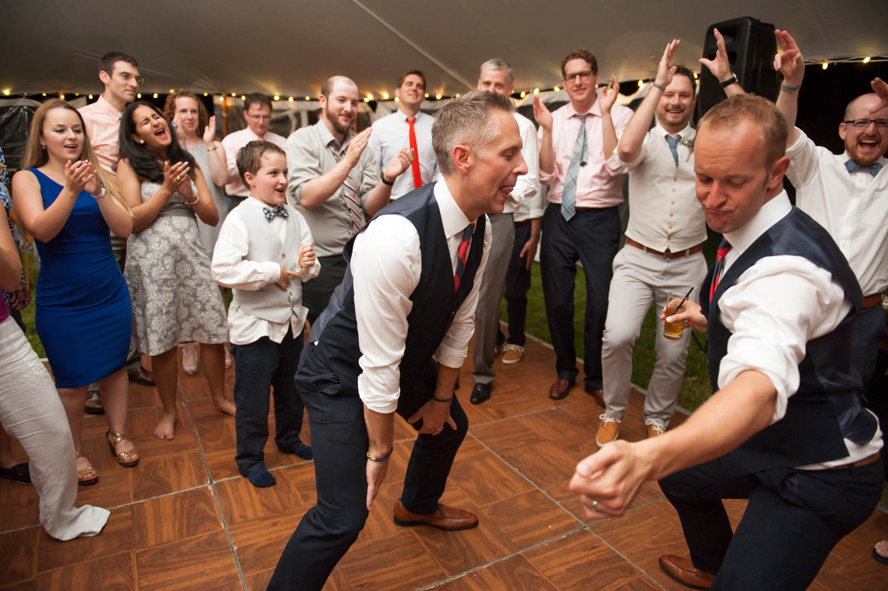 Best dance party ever at this destination wedding in Provincetown!