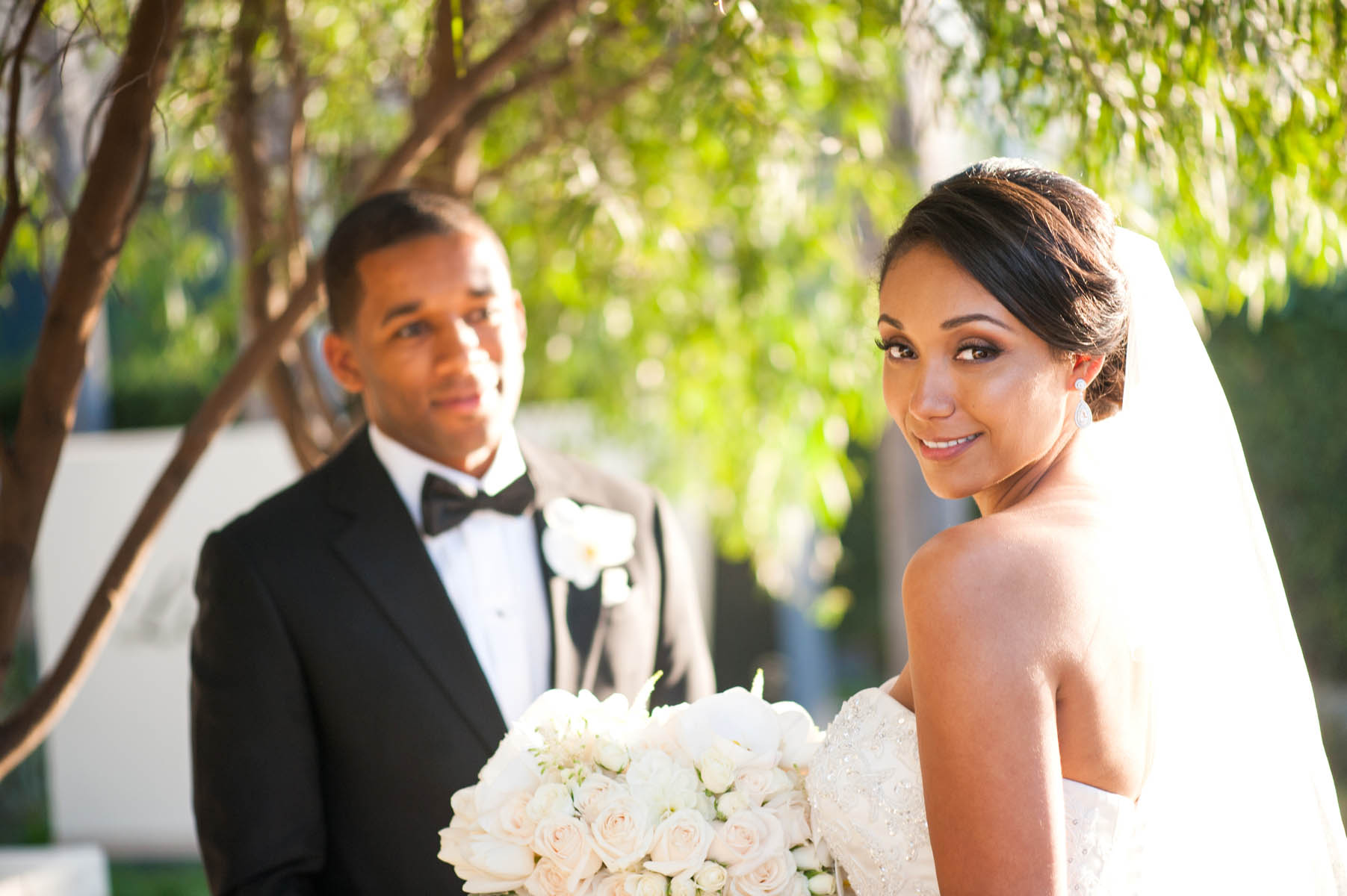 He can\'t keep his eyes off his gorgeous new bride!