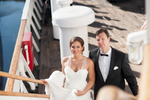 This stunning couple\'s wedding on the Queen Mary had a vintage theme.