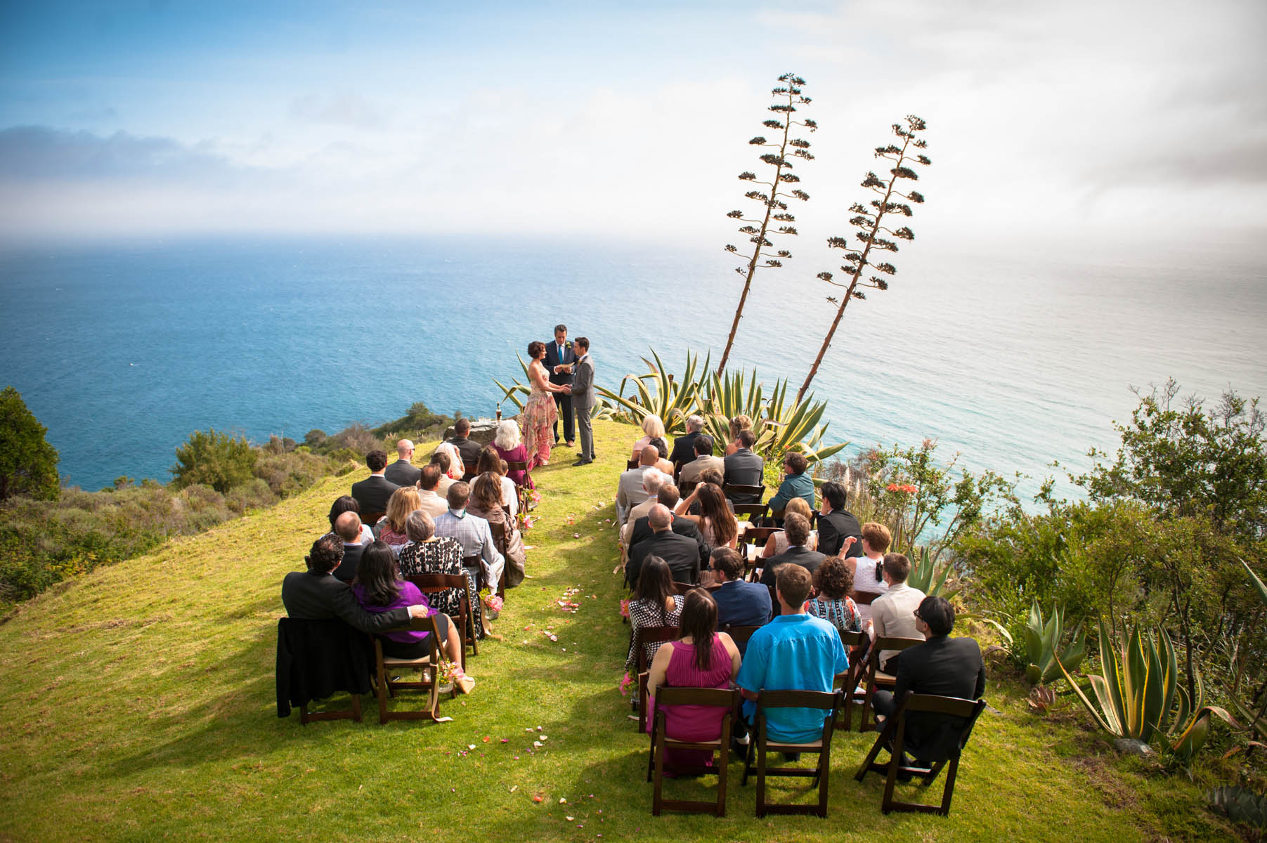 This was an amazing backdrop for a ceremony, the grand views of Big Sur as seen from Point 16.
