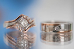 These wedding rings are a gorgeous display of elegant wedding bling!