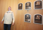 Bert Blyleven, former Major League Baseball pitcher stands where his plaque will hang during his orientation visit to the Baseball Hall of Fame in Cooperstown, N.Y. Blyleven was inducted into the National Baseball Hall of Fame in 2011.