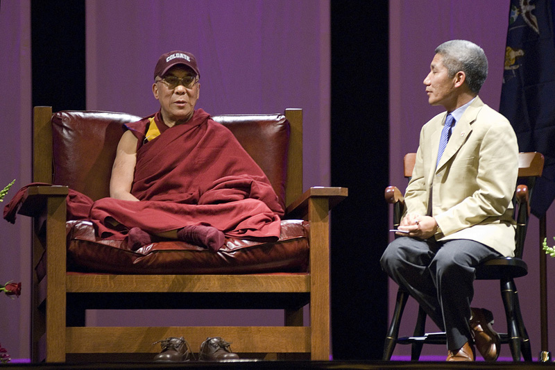 Dalai Lama at Colgate University, Hamilton, NY