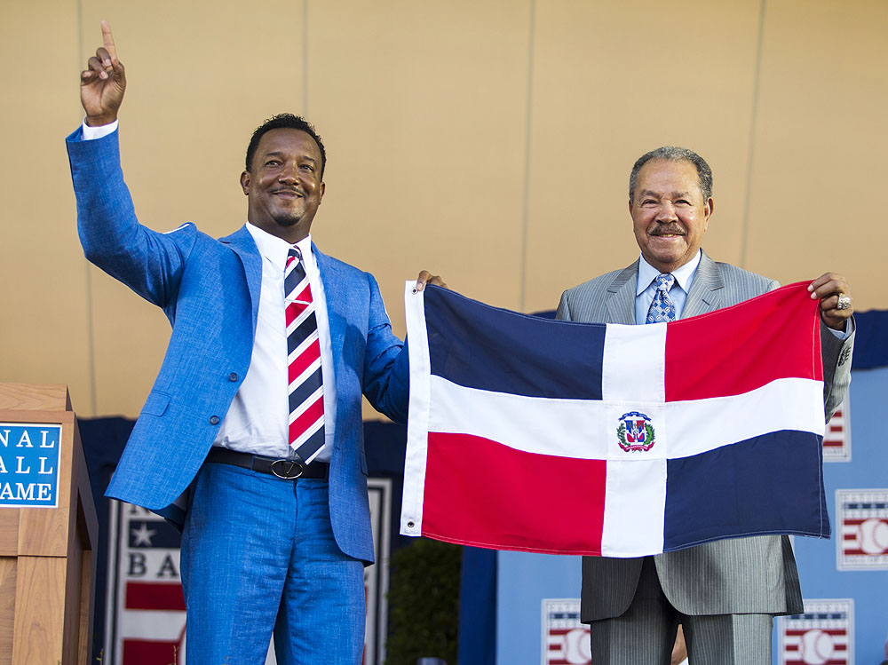 Pedro Martinez induction ceremony at the National Baseball Hall of Fame Sunday, July 26, 2015 in Cooperstown, NY.