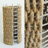 metal corn dryer, sisal, wire12{quote} round x 23{quote} high