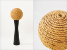 sisal, wire, wood, reactive resin, adhesive9{quote} round x 28{quote} high