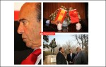 Emilio Botin, Chairman of the Spanish bank Santander, on his visit to Peking University, China.2009