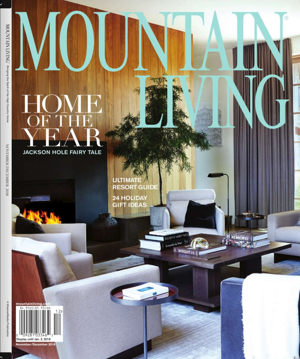 Interior family room Mountain Living magazine