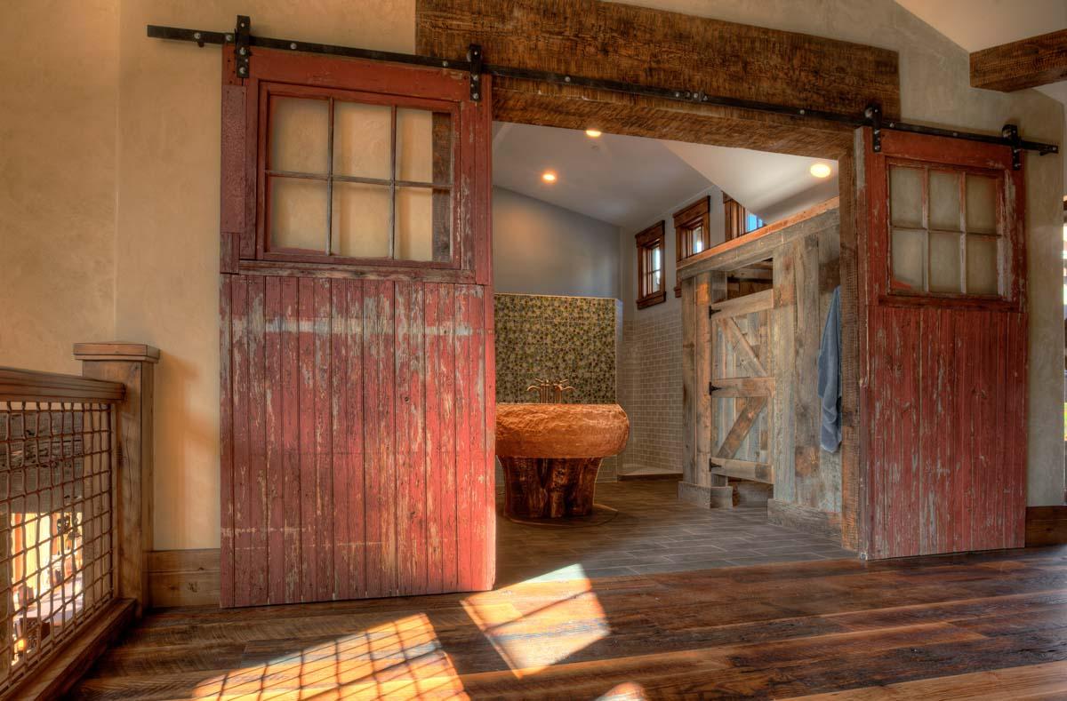 Interior second level bathroom