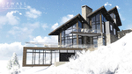 Winter exterior rendering of side of home