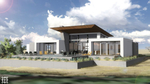 Exterior rendering of back of building