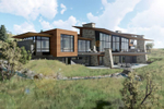 Exterior rendering of back of home