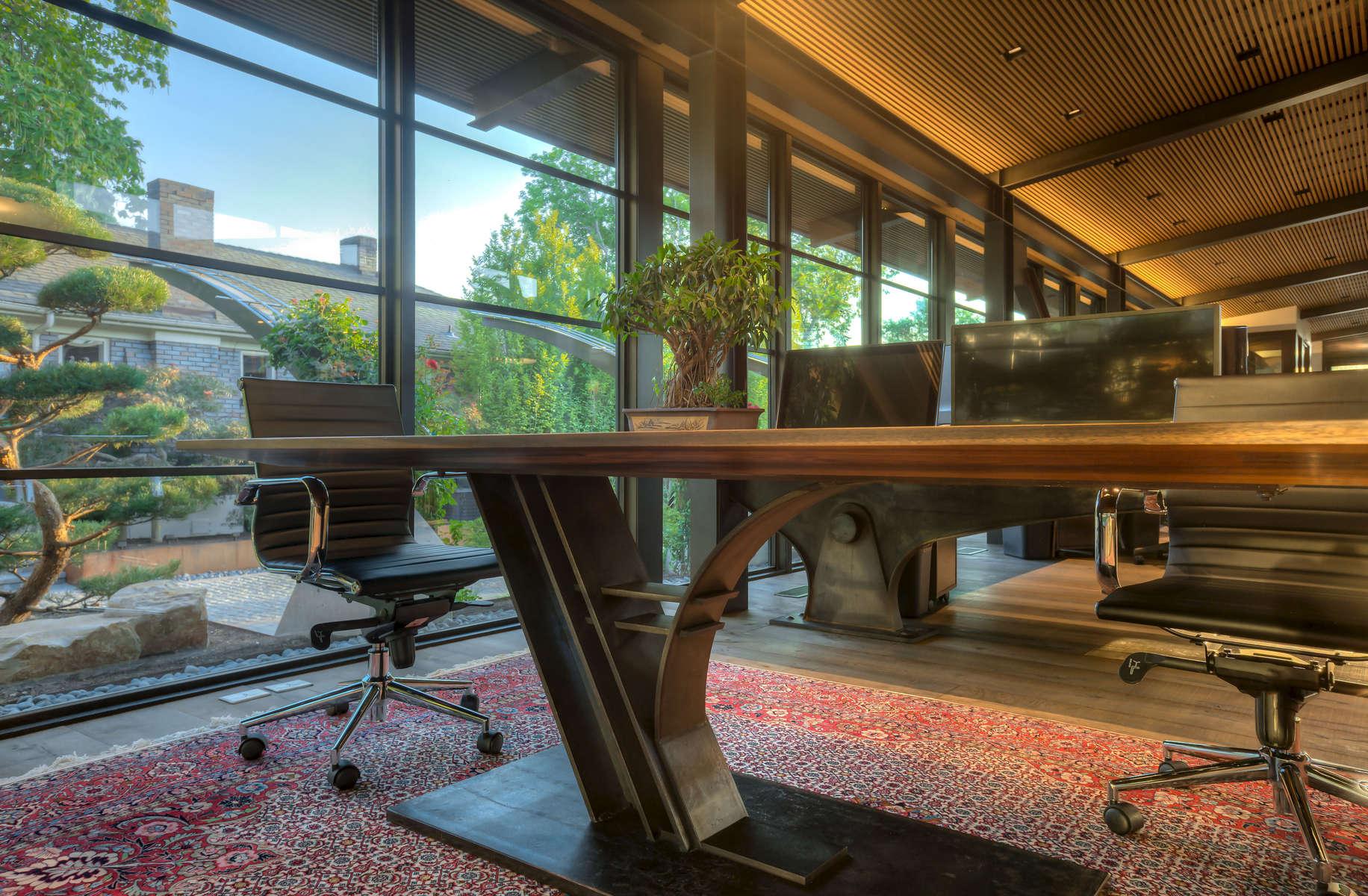 Interior desk of office